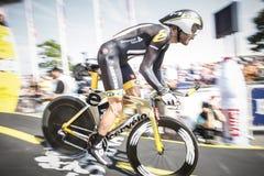 102ste Ronde van Frankrijk - Tijdproef - Eerste Stadium Stock Afbeelding