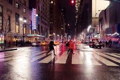 34ste 's nachts straat New York Royalty-vrije Stock Afbeeldingen
