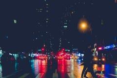 34ste 's nachts straat New York Royalty-vrije Stock Foto