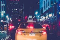 34ste 's nachts straat New York Stock Foto's