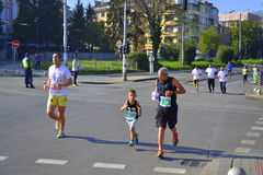 31ste Sofia Marathon-mededingers Stock Fotografie