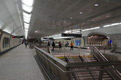 34ste St - Hudson Yards Subway Station 10 Stock Foto's