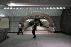 34ste St - Hudson Yards Subway Station 12 Stock Afbeeldingen