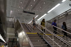 34ste St - Hudson Yards Subway Station 31 Royalty-vrije Stock Fotografie