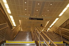34ste St - Hudson Yards Subway Station 32 Royalty-vrije Stock Foto's