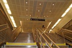 34ste St - Hudson Yards Subway Station 32 Royalty-vrije Stock Foto's