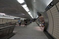 34ste St - Hudson Yards Subway Station 35 Stock Afbeelding