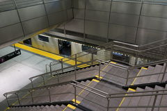 34ste St - Hudson Yards Subway Station 36 Royalty-vrije Stock Foto's