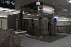 34ste St - Hudson Yards Subway Station 56 Stock Foto's