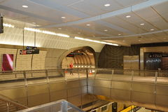 34ste St - Hudson Yards Subway Station 60 Stock Afbeeldingen