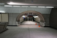 34ste St - Hudson Yards Subway Station 62 Stock Foto's
