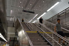 34ste St - Hudson Yards Subway Station Part 2 7 Royalty-vrije Stock Afbeelding