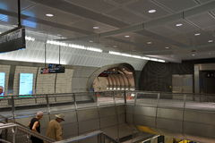 34ste St - Hudson Yards Subway Station Part 2 8 Stock Afbeelding