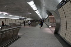 34ste St - Hudson Yards Subway Station Part 2 10 Stock Foto's