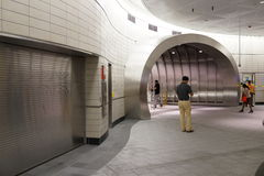 34ste St - Hudson Yards Subway Station Part 2 32 Royalty-vrije Stock Foto