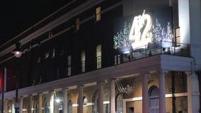42ste straatmusical in Londen stock videobeelden