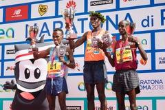 24ste uitgave van de Marathon van Rome, de ceremonie van de mensen` s toekenning Royalty-vrije Stock Fotografie