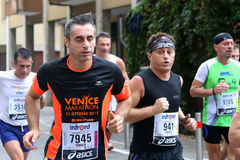 28ste Venicemarathon: de amateurkant Stock Afbeeldingen