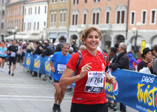 28ste Venicemarathon: de amateurkant Royalty-vrije Stock Foto