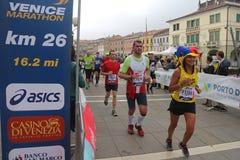 28ste Venicemarathon: de amateurkant Royalty-vrije Stock Afbeelding