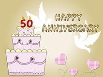 50ste verjaardag Royalty-vrije Stock Afbeelding