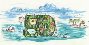 50ste verjaardag Vector Illustratie