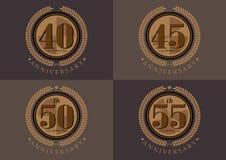 40ste verjaardag die de klassieke reeks van het embleemontwerp vieren vector illustratie