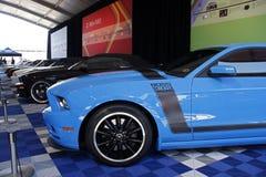 50ste Verjaardag Ford Mustang Display Royalty-vrije Stock Foto's
