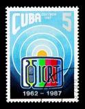 25ste verjaardag ICRT (Cubaans Instituut van Radio en Televisi, Se Stock Afbeeldingen