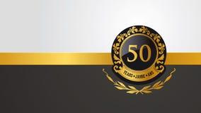 50ste verjaardag, jubileum of verjaardag pictogramm royalty-vrije illustratie