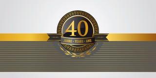 40ste verjaardag, jubileum, verjaardag pictogramm stock illustratie