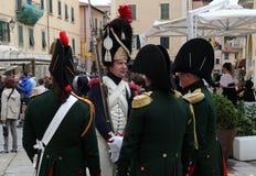 200ste verjaardag van de aankomst van Napoleon ` s in Portoferraio, Elba Royalty-vrije Stock Afbeelding