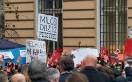 25ste verjaardag van de Fluweelrevolutie in Praag Royalty-vrije Stock Foto
