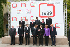 20ste Verjaardag van de instorting van Communisme in Midden-Europa Royalty-vrije Stock Foto's