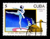 40ste Verjaardag van nationaal Ballet, serie, circa 1988 Royalty-vrije Stock Foto