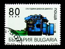 100ste verjaardag van uitvinding van de Diezel-motor, Vervoer s Royalty-vrije Stock Foto's