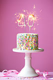 40ste verjaardagscake Stock Afbeeldingen