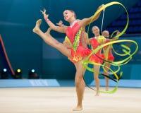 32ste Wereldkampioenschap in Ritmische Gymnastiek Stock Foto