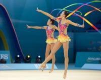 32ste Wereldkampioenschap in Ritmische Gymnastiek Stock Foto's