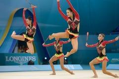 32ste Wereldkampioenschap in Ritmische Gymnastiek Stock Afbeeldingen