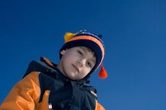 Steadfastly olhando o menino Imagens de Stock Royalty Free