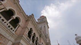 Steadicam射击了吉隆坡vity的,马来西亚苏丹阿都沙末大厦 股票视频