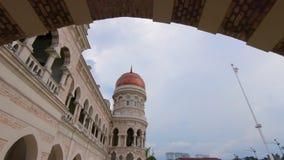 Steadicam射击了吉隆坡vity的,马来西亚苏丹阿都沙末大厦 股票录像
