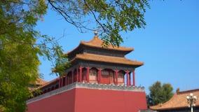 Steadicam που πυροβολείται ενός εσωτερικού μέρους της απαγορευμένης πόλης - αρχαίο παλάτι του αυτοκράτορα της Κίνας φιλμ μικρού μήκους