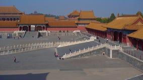 Steadicam сняло внутренней части запретного города - старого дворца императора Китая видеоматериал