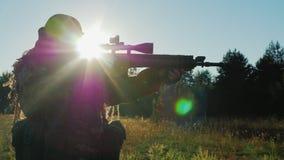 Steadicam disparou: O jogador vem com armas do airsoft filme