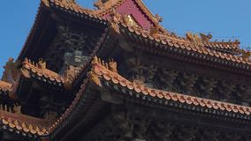 Steadicam shot of a inner part of the Forbidden city - ancient palace of China`s emperor