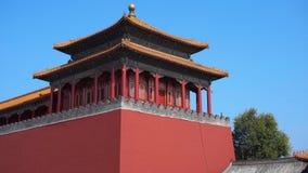 Steadicam sköt av en inre del av Forbiddenet City - forntida slott av Kina kejsare arkivfilmer