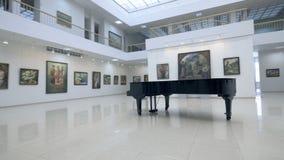 Steadicam strzelanina fortepianowa pozycja w galerii 4K zbiory wideo