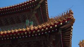 Steadicam a tiré d'une partie intérieure du Cité interdite - palais antique de l'empereur de la Chine banque de vidéos